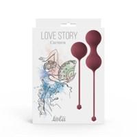 Набор вагинальных шариков Love Story Carmen Wine Red 3011-02lola