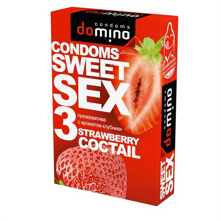 Презервативы DOMINO SWEET SEX Strawberry cocktail - фото 200370