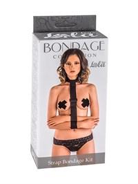 Ошейник с длинной лентой и наручниками Strap Bondage Kit One Size lola
