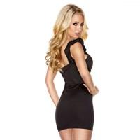 Черное платье на одно плечо , размер L