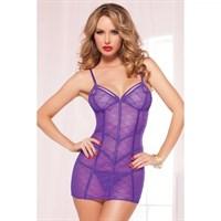 Фиолетовое стильное платье размер OS