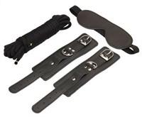 БДСМ набор закрытая маска наручники шнур